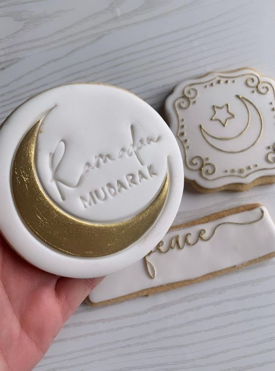 Ramadan Mubarak Style 1 with Moon Cookie Cutter and Stamp