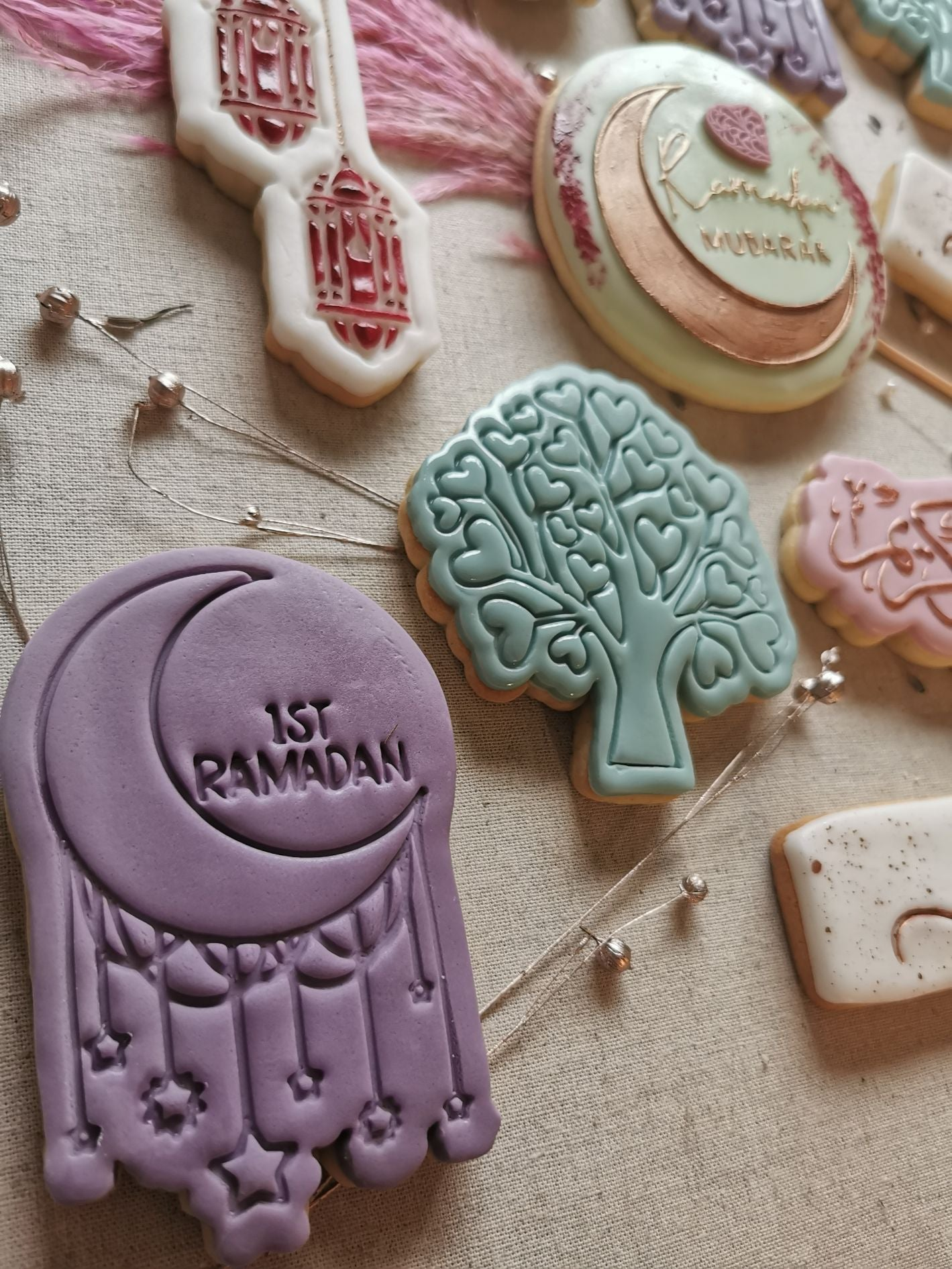 1st Ramadan with Moon Cookie Cutter and Stamp
