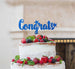 Congrats Cake Topper Glitter Card Dark Blue