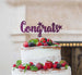 Congrats Cake Topper Glitter Card Dark Purple