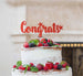 Congrats Cake Topper Glitter Card Red