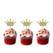 Crown Cupcake Toppers - Pack of 10 - Glittery Dark Blue