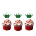 Crown Cupcake Toppers - Pack of 10 - Glittery Dark Purple