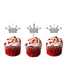 Crown Cupcake Toppers - Pack of 10 - Glittery Light Purple