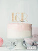Custom Initials Art Deco Wedding Cake Topper