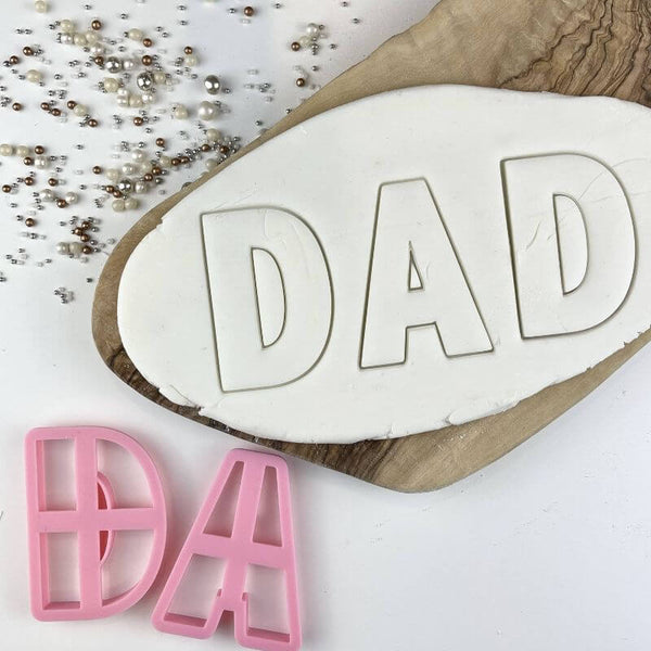 Dad (D and A) Letter Father's Day Cookie Cutters
