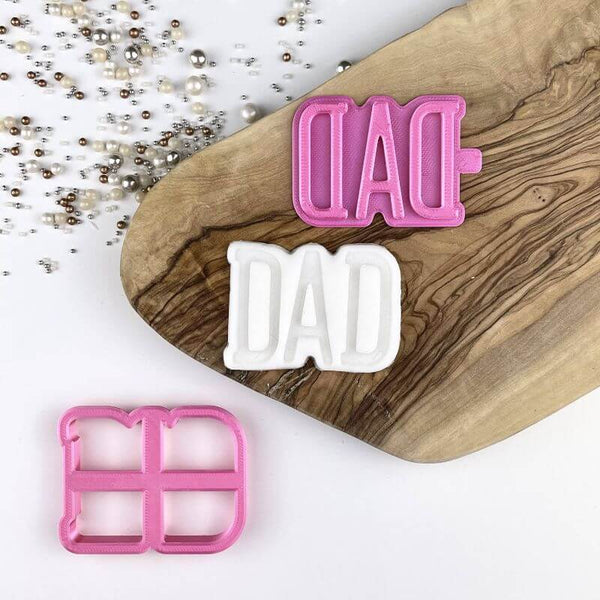 Dad Father's Day Cookie Cutter and Stamp