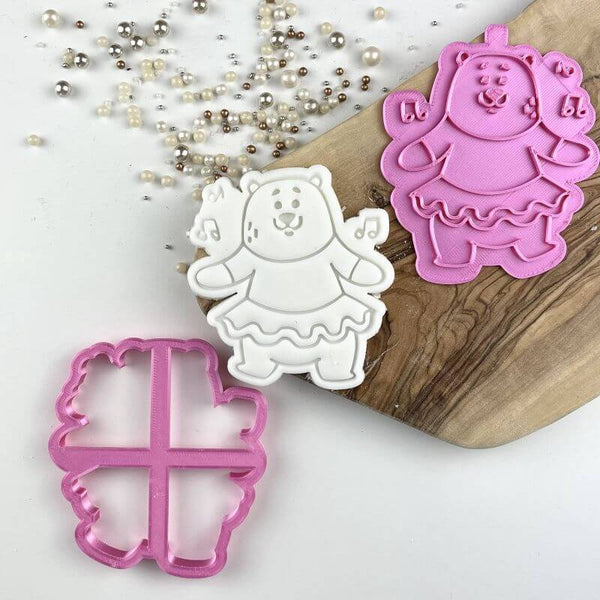 Daniel Dancing in a TuTu Birthday Cookie Cutter and Stamp