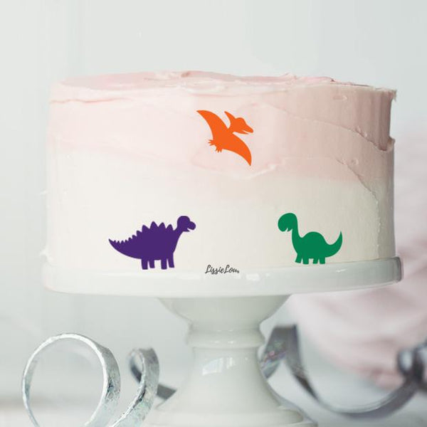 Dinosaur Pack of 3 Cake Motifs