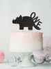 Dinosaur One 1st Birthday Cake Topper Glitter Card Black