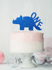 Dinosaur One 1st Birthday Cake Topper Glitter Card Dark Blue