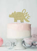 Dinosaur One 1st Birthday Cake Topper Glitter Card Gold