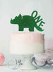 Dinosaur One 1st Birthday Cake Topper Glitter Card Green