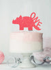 Dinosaur One 1st Birthday Cake Topper Glitter Card Light Pink