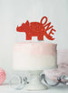Dinosaur One 1st Birthday Cake Topper Glitter Card Red