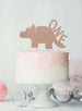 Dinosaur One 1st Birthday Cake Topper Glitter Card Rose Gold