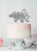 Dinosaur One 1st Birthday Cake Topper Glitter Card Silver
