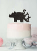 Dinosaur Six 6th Birthday Cake Topper Glitter Card Black