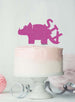 Dinosaur Six 6th Birthday Cake Topper Glitter Card Hot Pink