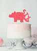 Dinosaur Six 6th Birthday Cake Topper Glitter Card