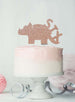 Dinosaur Six 6th Birthday Cake Topper Glitter Card Rose Gold