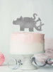Dinosaur Six 6th Birthday Cake Topper Glitter Card Silver