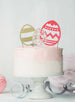 Easter Egg Cake Topper Set of 3 Glitter Card Gold, White and Light Pink