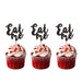 Eat Me glitter cupcake toppers Black