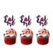 Eat Me glitter cupcake toppers Dark Purple