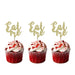 Eat Me glitter cupcake toppers Gold