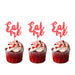 Eat Me glitter cupcake toppers Light Pink