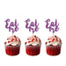 Eat Me glitter cupcake toppers Light Purple