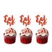 Eat Me glitter cupcake toppers Red