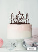 Eid Mubarak Mosque Acrylic Cake Topper Brown
