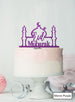 Eid Mubarak Mosque Acrylic Cake Topper Mirror Purple