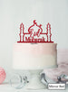 Eid Mubarak Mosque Acrylic Cake Topper Mirror Red