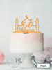 Eid Mubarak Mosque Acrylic Cake Topper Orange