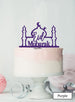 Eid Mubarak Mosque Acrylic Cake Topper Purple