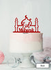 Eid Mubarak Mosque Acrylic Cake Topper Red