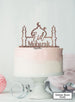 Eid Mubarak Mosque Acrylic Cake Topper Rose Gold