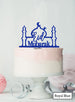 Eid Mubarak Mosque Acrylic Cake Topper Royal Blue