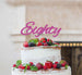 Eighty Birthday Cake Topper 80th Glitter Card Hot Pink