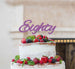 Eighty Birthday Cake Topper 80th Glitter Card Light Purple