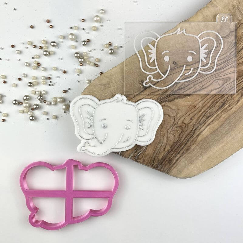 Elephant Jungle Cookie Cutter and Embosser