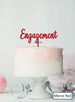 Engagement Cake Topper Premium 3mm Acrylic Mirror Red