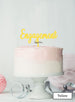 Engagement Cake Topper Premium 3mm Acrylic Yellow