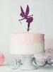 Fairy Birthday Cake Topper Glitter Card Dark Purple