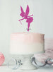Fairy Birthday Cake Topper Glitter Card Hot Pink