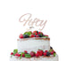 Fifty Birthday Cake Topper 50th Glitter Card White