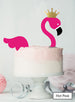 Flamingo Cake Kit Topper Set Premium 3mm Acrylic Hot Pink and Mirror Gold